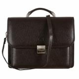 Braon kozna poslovna torba #632Braon muska poslovna torba, sve torbe su kozne, uglavnom od telece ili jagnjece koze i imaju kais da bi se nosile preko ramena